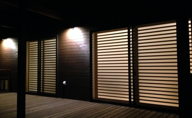 Shoji Screen from Outside