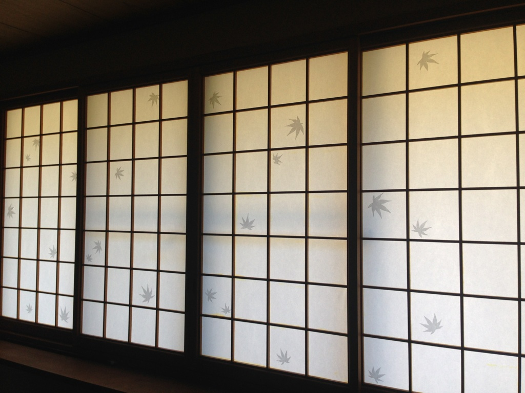 Patterned Shoji Screen Wasou