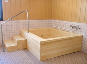 japanese hinoki wood soaking tub. Box Type  The standard wood bath Japanese Bathroom WASOU