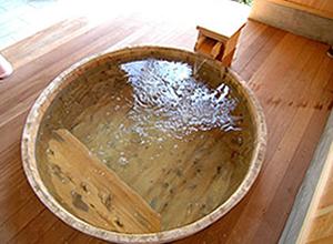 japanese hinoki wood soaking tub. Barrel Type  Japanese Bathroom WASOU