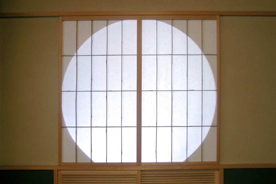 Circle Silhouette on Shoji