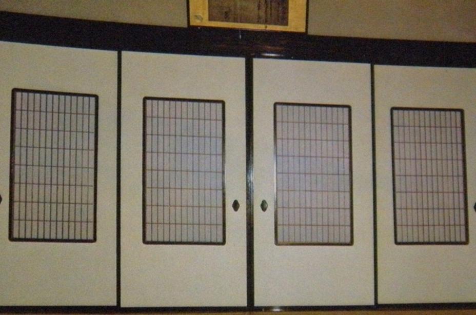Shoji in Fusuma Door