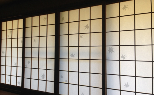 Patterned Shoji Screen